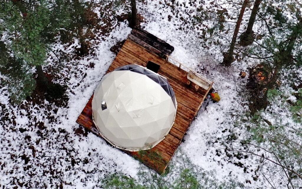 Asalnų kupolas žiemą