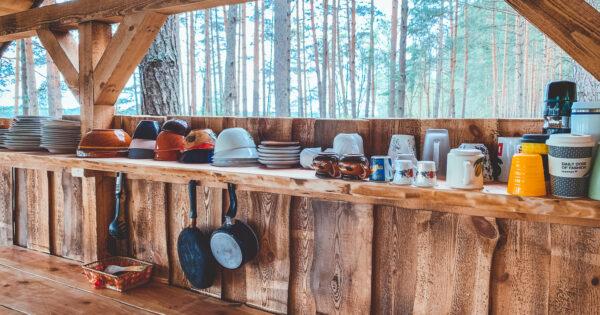 Asalnų stovyklavietė. Lauko virtuvė